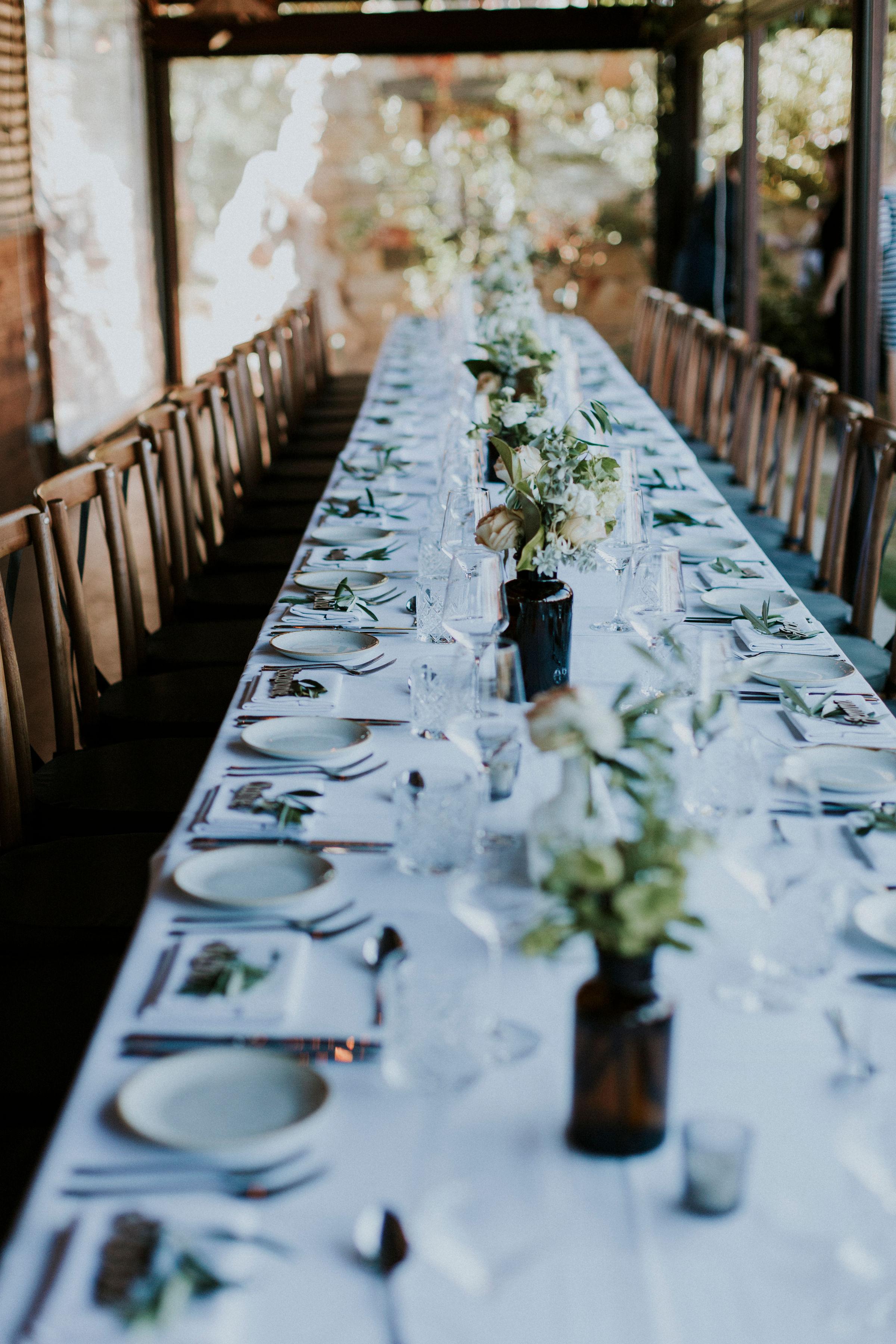 Perth Wedding Reception Tables