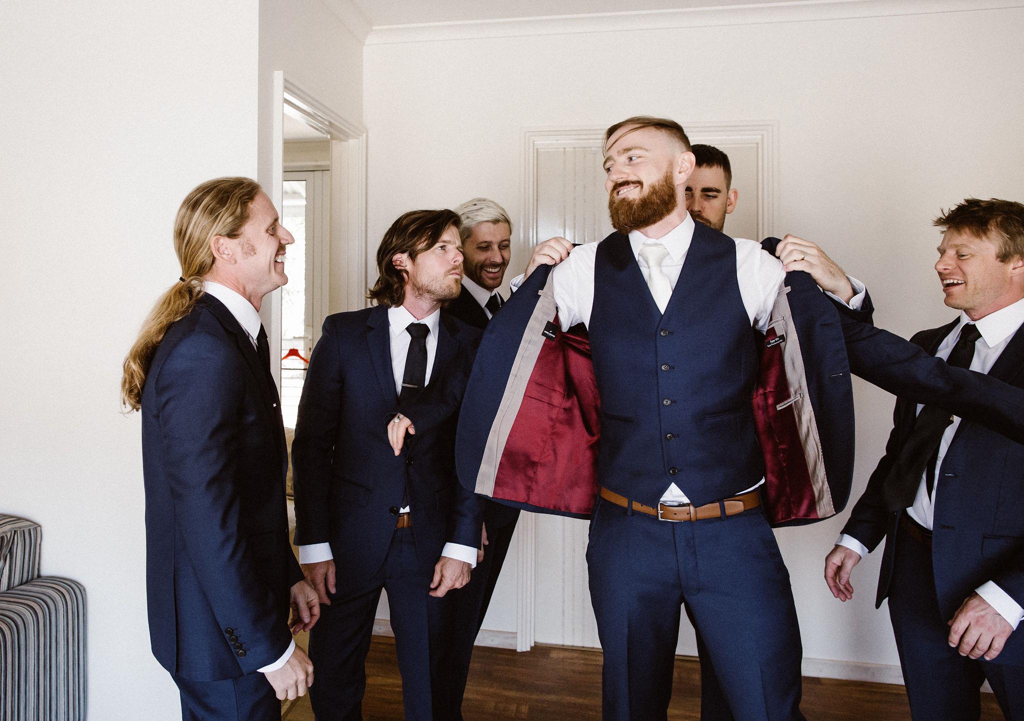Perth Wedding Groom & Groomsmen